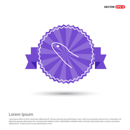 Blood test icon - Purple Ribbon banner