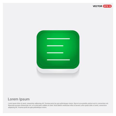 menu iconGreen Web Button - Free vector icon