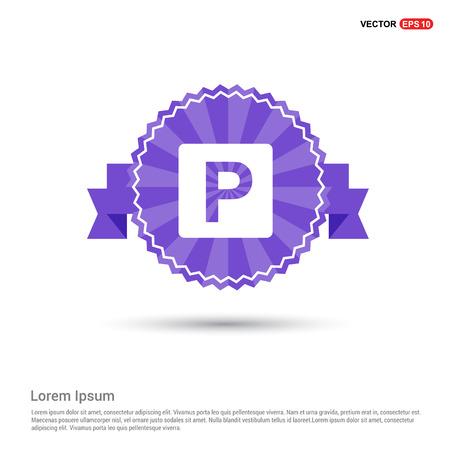 parking icon - Purple Ribbon banner