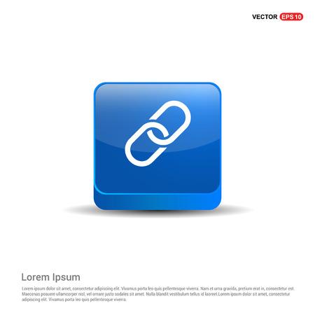 paper clip icon - 3d Blue Button. Illustration