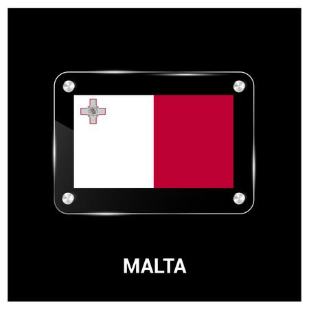 Malta flag design vector 일러스트