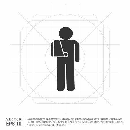 patient, icon Stock Vector - 113391081