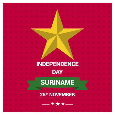 Suriname flag design vector