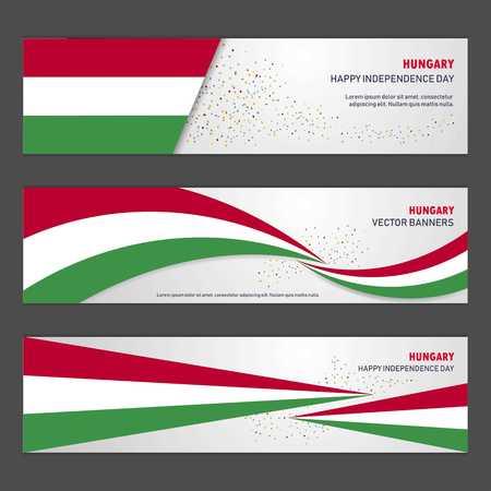 Hungary independence day abstract background design banner and flyer, postcard, landscape, celebration vector illustration