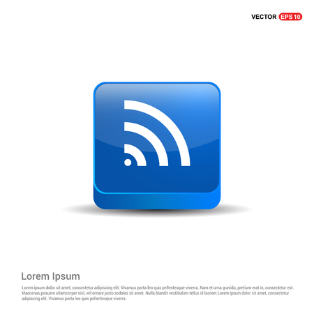 Wifi Icon - 3d Blue Button.
