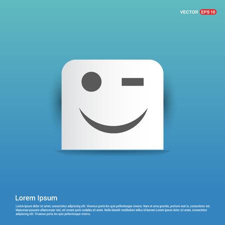 Emoji icon - Blue Sticker button