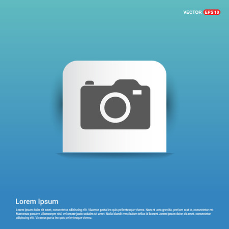 Photo camera icon - Blue Sticker button