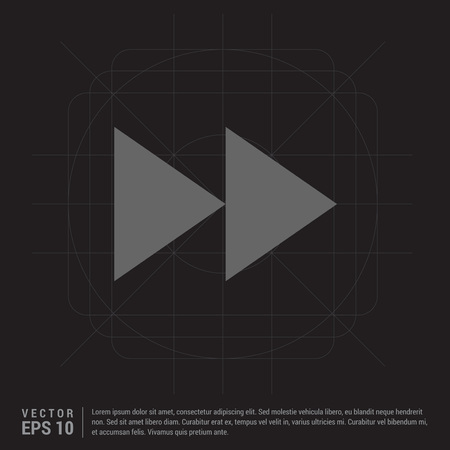 Forward icon Vector Illustratie