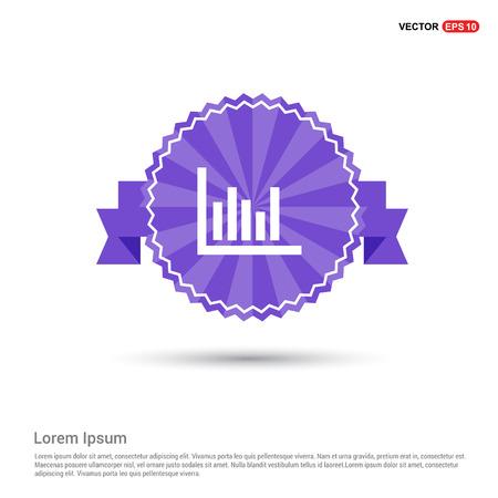 Growing graph icon - Purple Ribbon banner