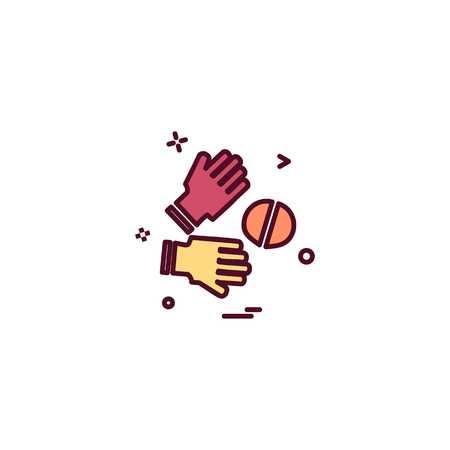 Catch cricket  gloves  wicketkeeper icon vector design 写真素材 - 115706978
