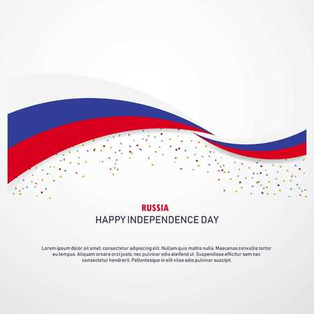 Russia Happy independence day Background Çizim
