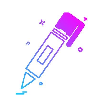 Pencil icon design vector