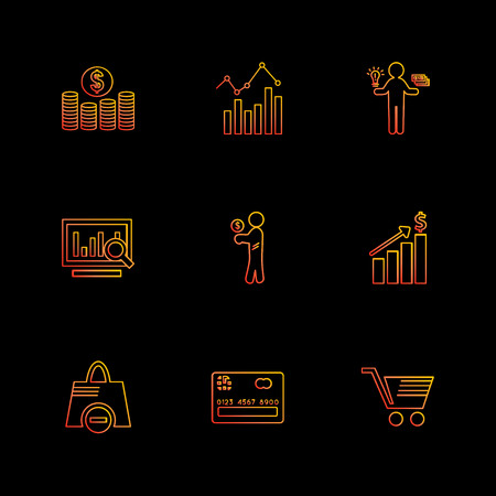 Shopping , cart , money , graph , user interface , credit card , add , garments , dollar , ,shopping bag , coins , icon, vector, design,  flat,  collection, style, creative,  icons