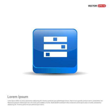 Computer Server icon - 3d Blue Button.