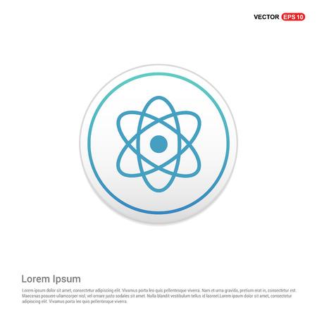 Atom sign icon - white circle button