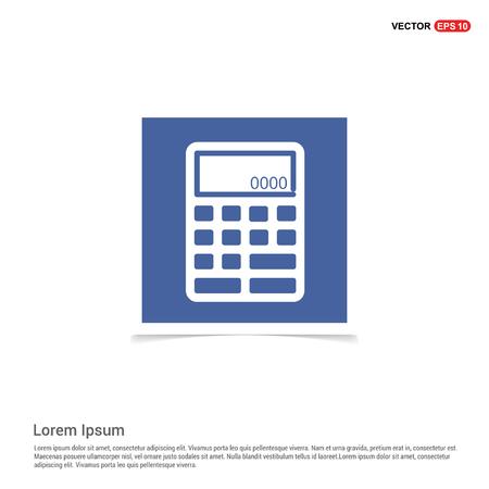 Electronic calculator icon - Blue photo Frame