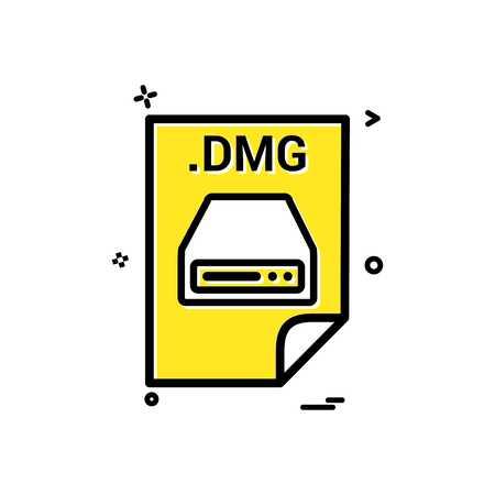 dmg application download file files format icon vector design
