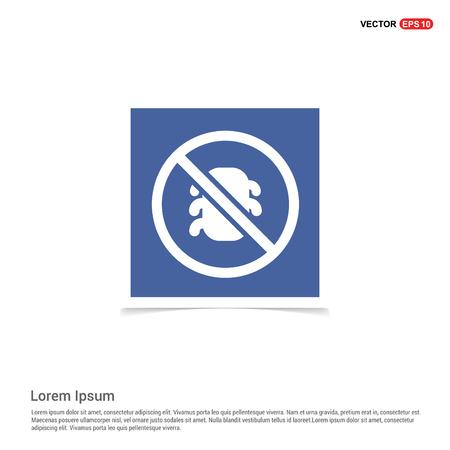 bug icon - Blue photo Frame