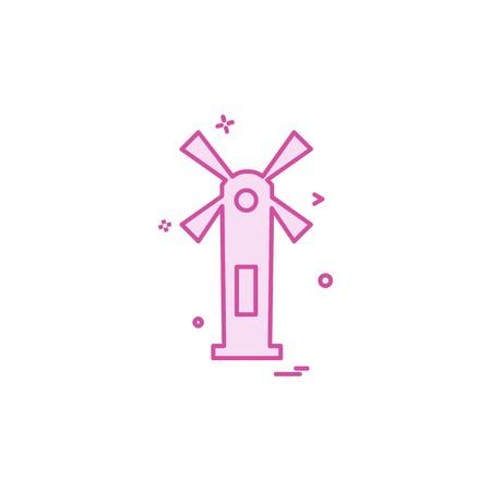 Air turbine icon design vector