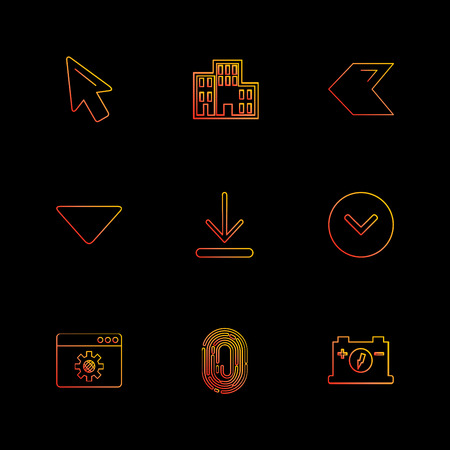 pointer ,  download , thumb impression , back , arrows , directions , left , right , pointer ,icon, vector, design,  flat,  collection, style, creative,  icons ,