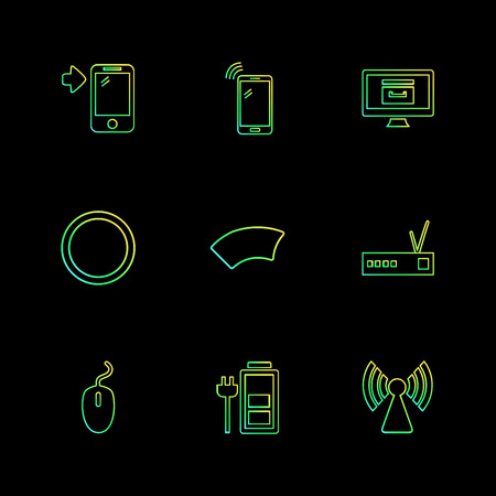 battery , wifi , network , infrared , signals , web , user interface , usb , battery cells , mobile , uploading , downloading , internet , icon, vector, design,  flat,  collection, style, creative,  icons