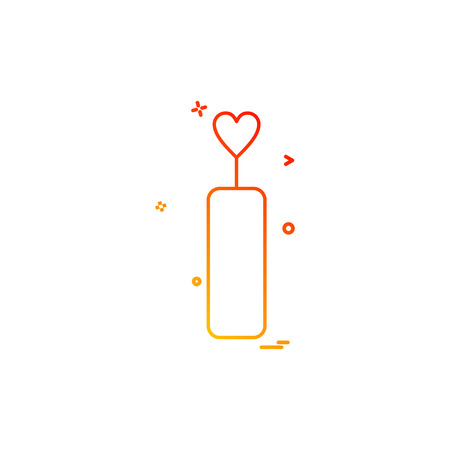 heart candle candle light dinner icon vector design