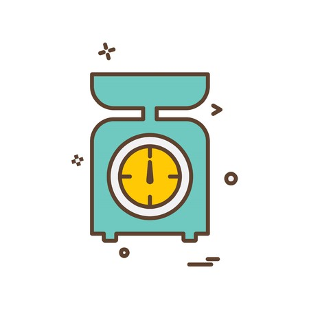 Weight machine icon design vector