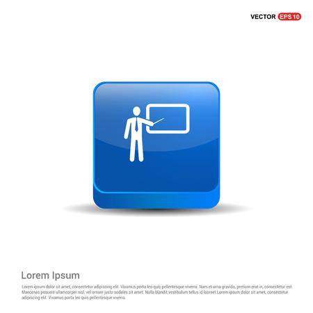Presentation Icon - 3d Blue Button.