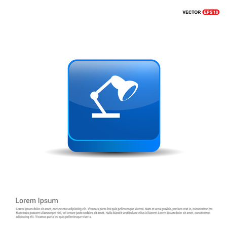 Reading lamp icon - 3d Blue Button.