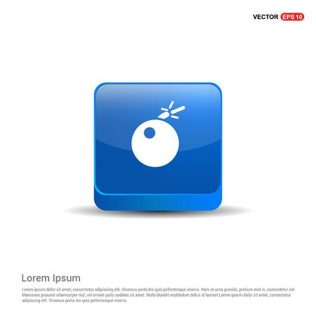 BOMB icon - 3d Blue Button.