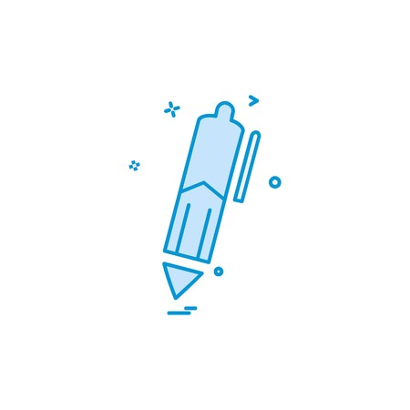 Pencil icon design vector Stock Illustratie