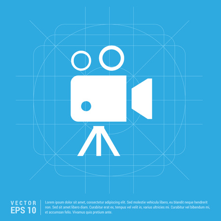 Video camera icon Ilustração