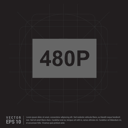 video resolution icon 向量圖像