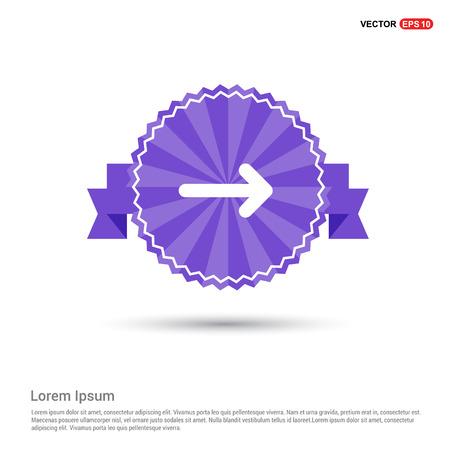 Next Arrow Icon - Purple Ribbon banner Ilustración de vector