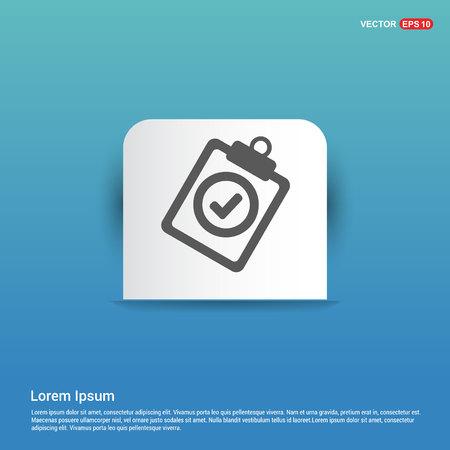 Check List Icon - Blue Sticker button