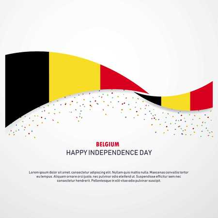 Belgium Happy independence day Background Illusztráció