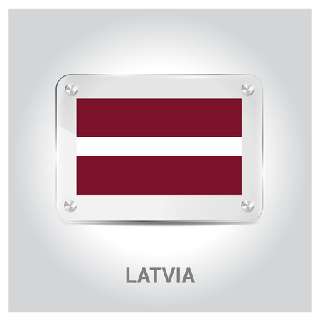 Latvia flags design vector