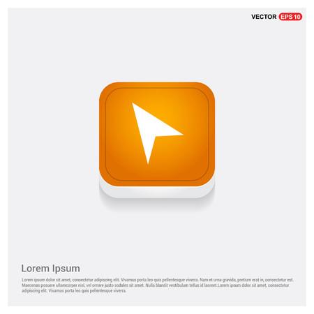 Navigation icon Orange Abstract Web Button - Free vector icon