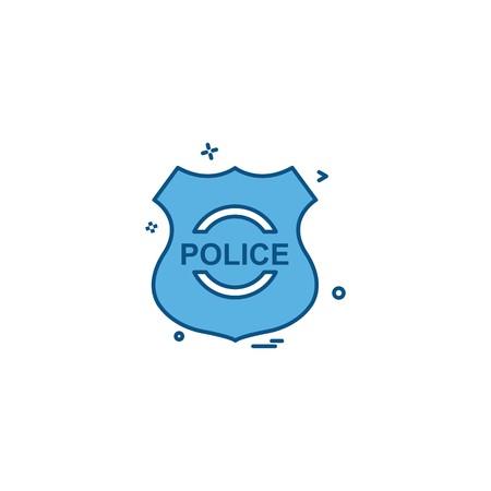 police shield emblem force icon vector design Ilustração