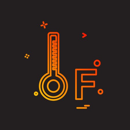 Temprature icon design vector