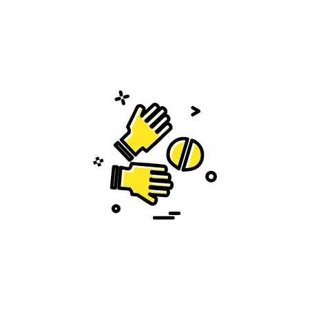 Catch cricket  gloves  wicketkeeper icon vector design 写真素材 - 113593542
