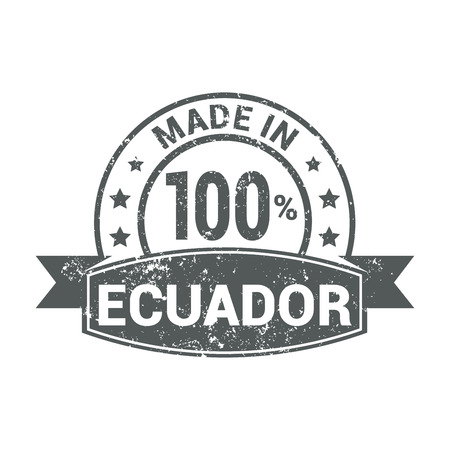 Ecuador stamp design vector