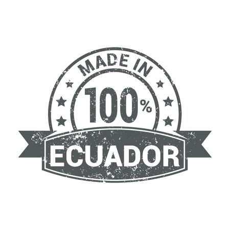 Ecuador stamp design vector
