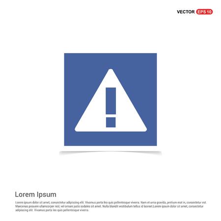 Warning Icon - Blue photo Frame