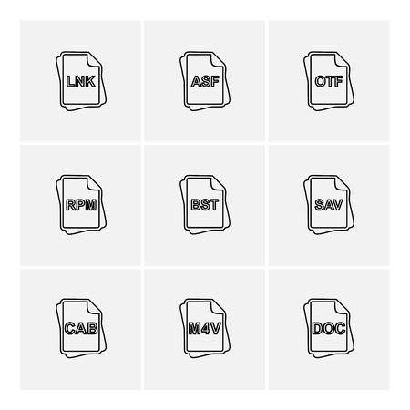 file type , files , documents , file , doc , ai , psd , pdf , png , jpg , dmg , exe , msd , apk , txt, docx ,xls , html , css , wav, mp3 , mp4 , db , eps , svg, icon, vector, design, flat, collection, style, creative, icons
