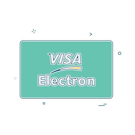 Visa Electron credit card design vector 版權商用圖片 - 113593683