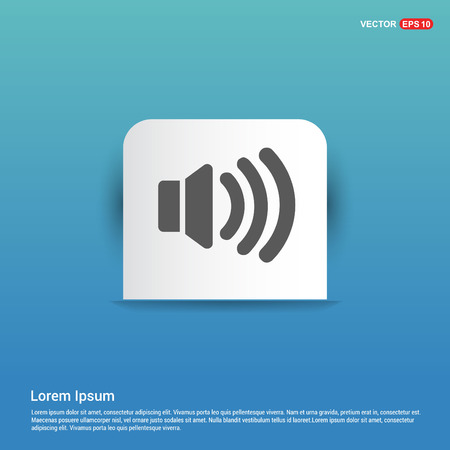 Sound volume icon - Blue Sticker button 版權商用圖片 - 118336112