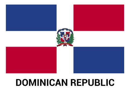 Dominican Republic flag design vector