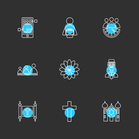 religion , networks , team , science , share , networking , islam , jesus , christan , god , father , islam , prayer , cross , technology , maths , icon, vector, design,  flat,  collection, style, creative,  icons Illustration