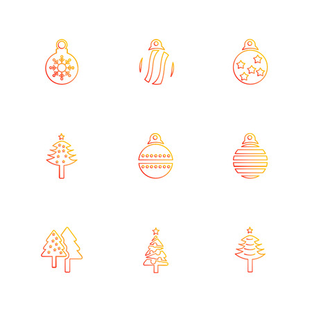 Christmas balls , snowflakes, tress , christmas , snow , winter , merry christmas , 25 dec , balls , decoration , evening , snowfall , icon, vector, design,  flat,  collection, style, creative,  icons